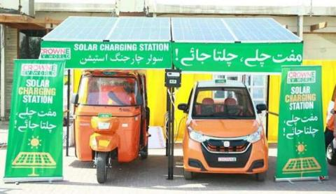 electric car and rikshaw in pakistan